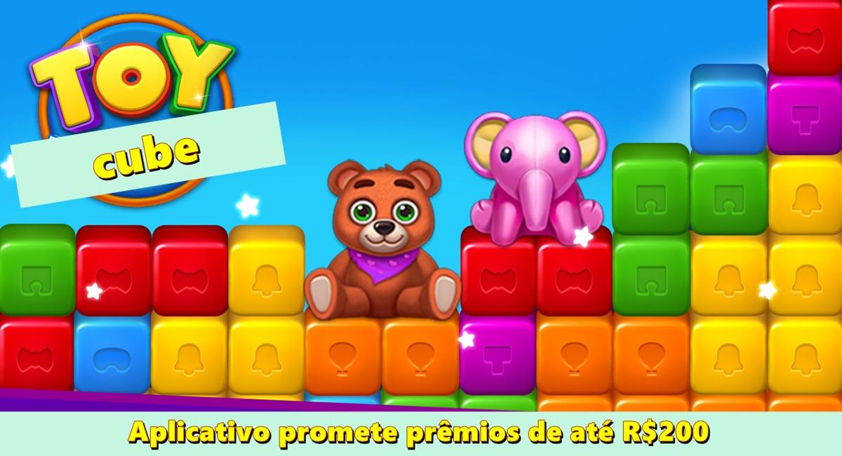 Toy Cube Blast App Aplicativo promete prêmios de até R$200 com pagamentos pelo PayPal e Pix
