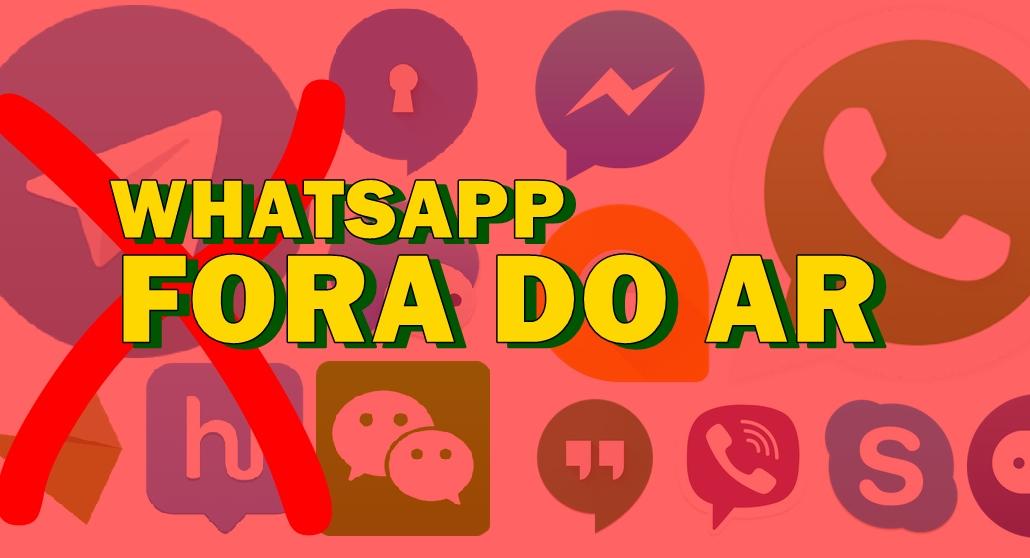 WhatsApp fora do ar Veja como continuar se comunicando